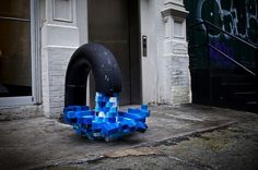 Pixel Pour 2.0 #sculpture #water #installation #art #street #pixels