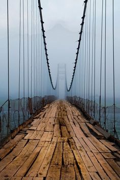 Plank Bridge, Cascille, Northern Ireland. #wood #ireland #bridge