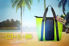 LUZPAC: A Bag That Charges Your Devices - IPPINKA The LUZPAC offers two functions of a charger and a bag! It has an environmentally friendl