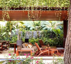 Vacation Villa Completely Open to the Mexican Pacific Bay natural materials house garden exterior