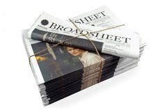 Printed Broadsheet: Studio Round | PROCESS JOURNAL #print #graphic design #magazine #newspaper