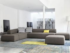 Sectional Upholstered Sofa by Mauro Lipparini