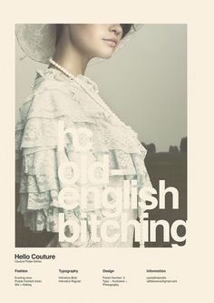 Hello Couture (with Love 22) on the Behance Network #girl #sans #poster #helvetica #typography