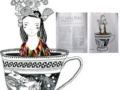 The Big Issue - Catherine Campbell #illustration #teacup #girl