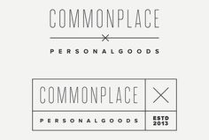 Commonplace by Rowan Made #logo #logotype #mark