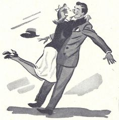 1942-(via File Photo)- on Flickr. #couple #design #illustration #vintage #embrace #40s #cute #art #suit #love #hug