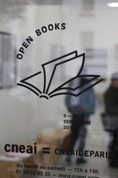 OPEN BOOKS - exhibition & publication #signage #logo #book