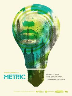 Graphic Design | Poster Art | Metric by Doublenaut #gig #design #graphic #print #screen #metric #poster #band