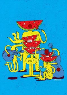 Watermelon musician