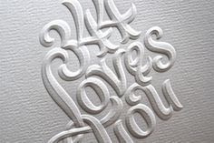 Embossed Letting #emboss #young #lettering #doyald #paper