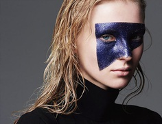 Photo Nastya Sten by Ward Ivan Rafik for Russh June / July 2015 makeup fashion square