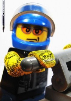 Pilot Extrafine: Lego Tattoos | NiceFuckingGraphics! #lego #advertisement #pilot #tattoo #extrafine