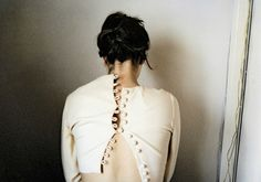 Photography by Anni Leppälä I Art Sponge #anni #leppl #girl #jacket #back #strange #photography