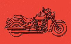 Tim Boelaars #illustration #vector #red #motorcycle