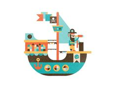 pirate boat #illustration