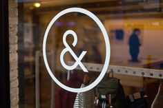 Indigo & Cloth by Designgoat #interior #shop #store #ampersand #window #logo