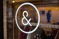Indigo & Cloth by Designgoat #store #shop #logo #window #ampersand #interior
