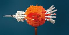 Beautiful LEGO: A New Book About the Art of LEGO by Mike Doyle #toys #apple #sculpture #lego #art #bricks #bullet