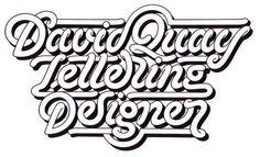 Typeverything.comDavid Quay diseñador de letras de David Quay. #lettering #typography