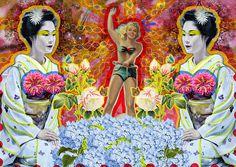 Se va | Peperina Magenta #creative #arte #amor #woman #color #digital #ilustraciã³n #vintage #ilustration #art #collage #colour #love #work