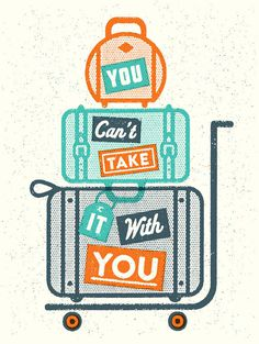You_cant_take_it_final #illustration #retro #texture #travel