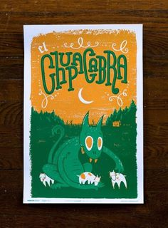 Fauna Friends Poster Series from Familytree #white #design #graphic #orange #texture #illustration #poster #green