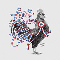 Fier comme un coq by Alexis Taieb #typography