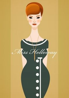 Mad Men Vector Artworks: Pics, Videos, Links, News #illustration #vector #vintage