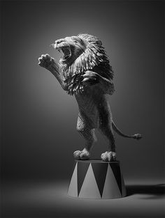 CJWHO ™ (Paper Lion Constructed from Hotel Receipts by Kyle...) #amazing #white #crafts #lion #design #black #art #and #animals #paper