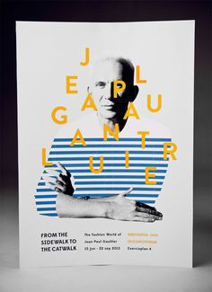 Jean Paul Gaultier Poster #graphic design #typography #poster