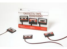 Cassette Tape Bookmarks by Studio Ding Dong #cassette #bookmark