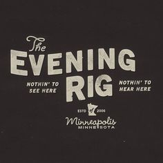 The Evening Rig's Photos - Profile Pictures #rig #type #vintage #evening