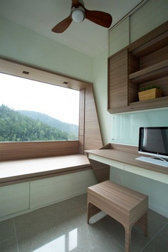 Adjustable Wooden Furniture Maximizes Small Apartment in Hong Kong 11