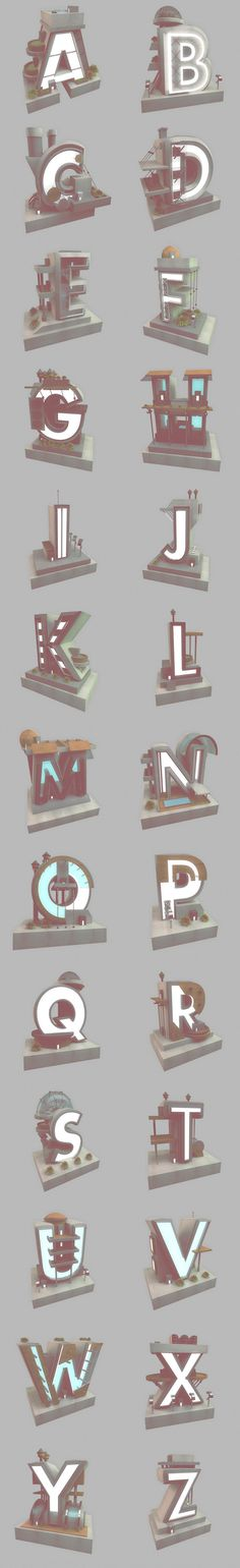 Archetype on Typography Served #type #3d #typography