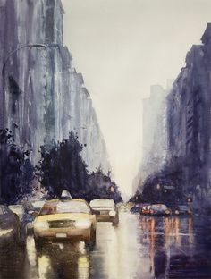 Minh Dam Paintings | Best Bookmarks #city #water #painting