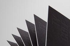 Ty Cole Card 1 #blind #white #business #branding #card #letterpress #black #printing #deboss #logo #duplex