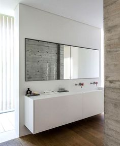 SB House – Wrapped in a Shell of Concrete - #bath, #interior, #decor, home, bathroom