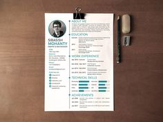 Sibasish - Free Simple Resume PSD Template for Good Impression
