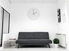 Sofa #interior #sofa #white #couch #office #space #minimal #clock