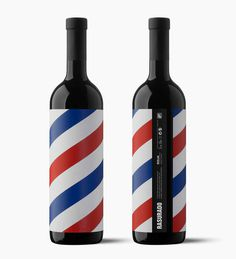 By Morubanhttp://www.moruba.es #white #red #stripes #wine #blue