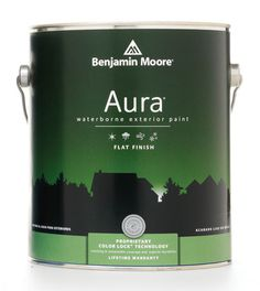 Benjamin Moore Aura Exterior #packaging #paint #can