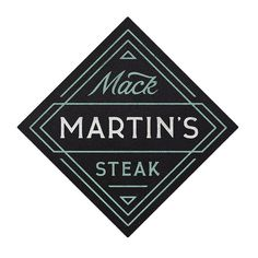 mack martin's steak #logo