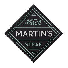 mack martin's steak #logo