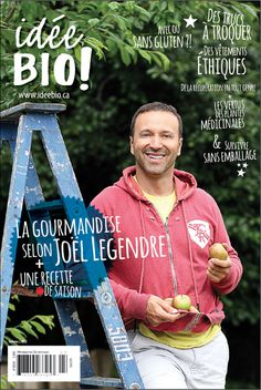 September's cover (idée BIO ! magazine) #apple #people #autumn #layout #magazine