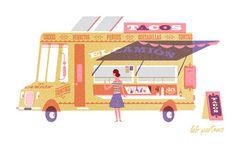 lab partners #truck #illustration