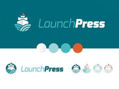 LaunchPress Logo #logo #boat
