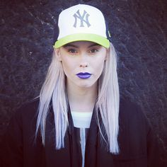 Hilda Sandström #woman #hair #photography #cap #blonde #purple #face #hilda #beauty
