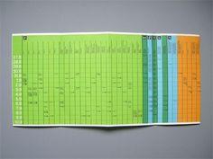 Otl Aicher 1972 Munich Olympics - Timetables #otl #aicher