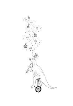 illustrations for twisty parallel universe #universe #circus #twisty #illustration #dinosaur #parallel #bw #king
