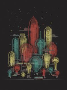 Art print by DKNG #futurism #screen #print #retro